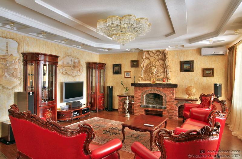 Інтер'єр вітальня (класичний стиль) :: Галерея