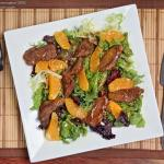 Warm salad with a duck breast